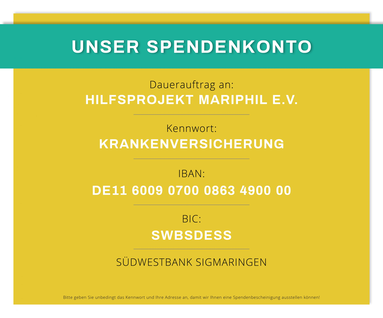 Spendenkonto Hilfsprojekt MARIPHIL e.V. e1558463736761 - Notfallhilfe und Krankenversicherung