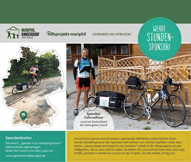 Grafik Gerhards Spendentour1 - Deutschland umrunden in 200 Stunden